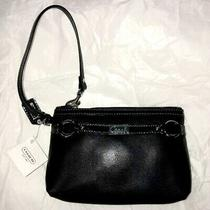 Coach Gallery Black Leather Med Wristlet Nwt Buttery Wallet Handbag F48294 New Photo