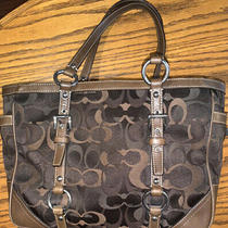 Coach Gallery Signature Tote  Brown Optic Photo