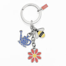 Coach Garden Multi Mix Key Ring Style F64380 Sv/multicolor Photo