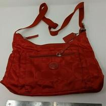 Coach Getaway Signature Packable Crossbody Purse Bag Red Excellent Condition Photo