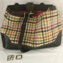 Coach Girlie Multi-Colored Wool Leather Purse Damaged for Crafting  Photo
