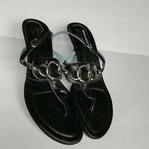 Coach Gladys Thong Low Heel Sandals Black  Women's Size 9.5b  Photo