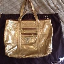 Coach Glam Poppy Tote in Gold  Photo