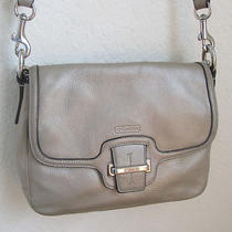 Coach-Glove Tanned Gold Cowhide Crossbody Pouch F25206-W/2ndshort Handle Photo