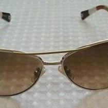 Coach Gold and White Sunglasses  Photo