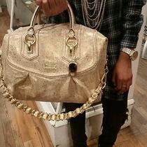 Coach Gold Big Satchel Photo