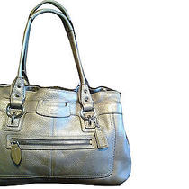 Coach Gold Leather Handbag Photo