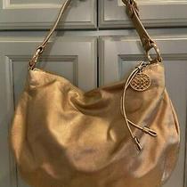 Coach Gold Leather Hobo Style Handbag/purse Photo