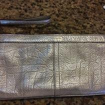Coach Gold Leather Medium Evening Zip Clutch Wristlet  Photo