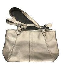 Coach Gold Leather Mini Purse Handbag  J0869-42416 Photo