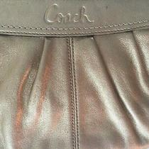 Coach Gold Metallic Clutch  Wristlet With Hang Tag Photo