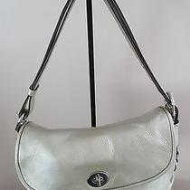 Coach Gold Metallic Flap Front Handbag Photo