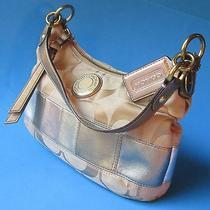 Coach Gold & Metallic Satchel Handbag Photo