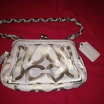 Coach Gold Parker Op Art Clutch Purse  Photo