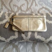 Coach Gold Wristlet Photo