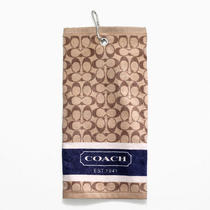 Coach Golf Towel Style F83502 Khaki/mahogany Photo