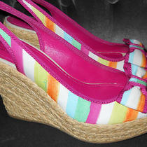 Coach Grace Watercolor Wedges Size Us 10 Nib Hard to Find Style Msrp 198 Photo