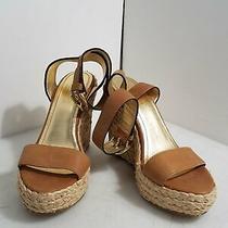 Coach Gracyn Women's Light Brown Wedge Platform Sandals Size 6b Photo