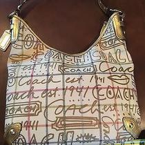 Coach Graffiti Metalic Handbag Euc Photo
