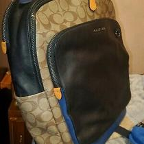 Coach Graham Signature Laptop Backpack Slightly Used.  Photo