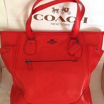 Coach Grain Leather Mickey Tote Bag  Cardinal Red Nwt F34039 Photo