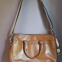 Coach Gramercy Leather Zip Top Crossbody Briefcase F70454 Cognac Photo