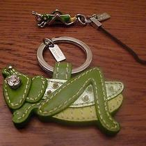Coach Grasshopper Set of Two Keychain Key Ring and Cell Phone Bag Charm Photo