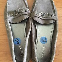 Coach Gray Color Suede Loafer Size 7 1/2 Photo