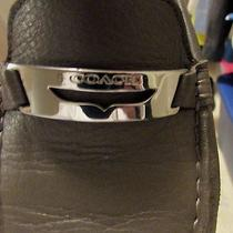 Coach Gray Leather Drivers