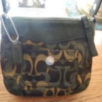 Coach Green Camoflauge Handbag Photo