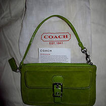 Coach Green Hand Bag Clutche Purse  Photo