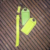 Coach Green Leather Hang Tags Photo