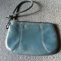 Coach Green Leather Purse Small Wristlet Photo