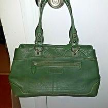 Coach Green Leather Satchel  Bag Purse Handbag Fabulous Photo