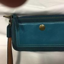 Coach Green Leather Suede Wristlet Photo