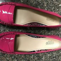 Coach Gretchen Patent Leather Ballet Flats Size 10 Pink Fuschia Magenta New Photo