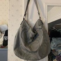 Coach Grey Leather Large Handbag Photo