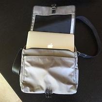 Coach Grey Messenger / Laptop Bag Nylon / Leather Professional Student Photo