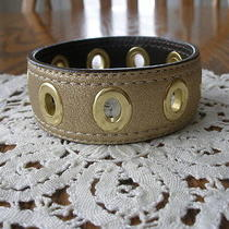 Coach   Grommet   Metallic  Gold   Leather   Bracelet        Photo