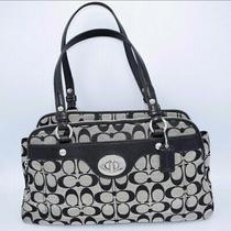 Coach H1168-F16542 Penelope Signature Satchel Bag Purse Handbag - Gray & Black Photo