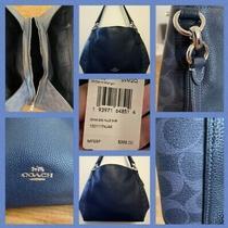 Coach Hallie Shoulder Bag Denim Blue With Matching Wallet/wristlet Photo