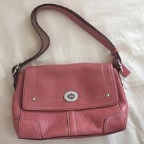 Coach Hamillton Leather Flap Pursesoft Pebble Collectionfree Gift W/ Purchase Photo