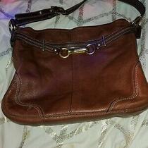 Coach Hamilton Black Pebbled Leather Belted Hobo Bag  12464  Xlnt Photo