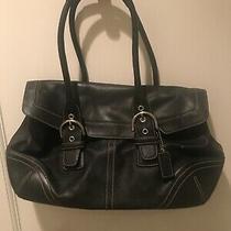 Coach Hampton 9636 Soho Satchel  Shoulder Bag  Black Leather Photo