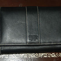 Coach Hampton Black Leather Medium French Wallet Photo