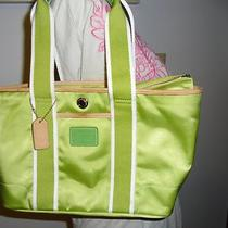 Coach Hampton Mini Green Tote Bag  Photo