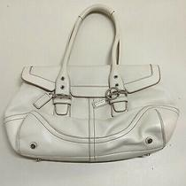 Coach Hamptons Cream Leather Purse Authentic  Photo