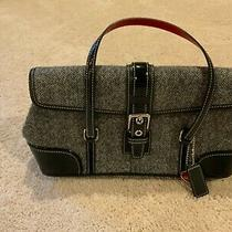 Coach Hamptons Herringbone Black & White Handbag Purse Pre-Owned Never Used Photo
