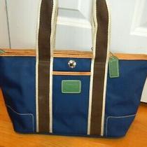 Coach Hamptons Mini Weekender Tote Handbag No L3k-6261 Blue Photo