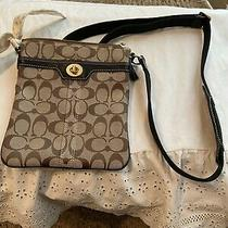 Coach Hamptons Signature Scarf Cross Body Canvas  Euc Photo